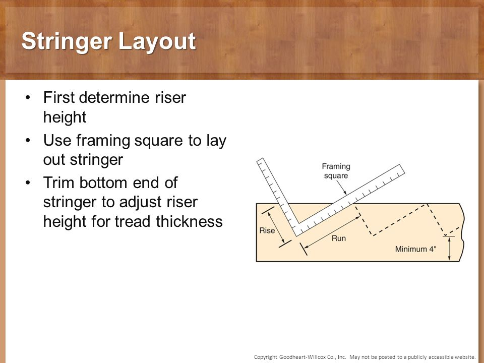 Dorable How To Cut Stair Stringers With A Framing Square Frieze ...
