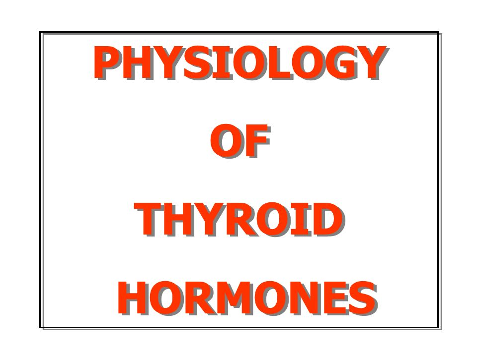 Physiology Of Thyroid Hormones Ppt Video Online Download