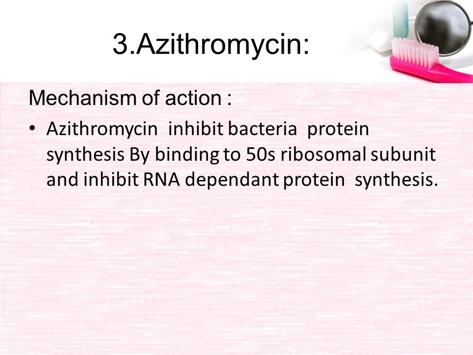 mechanism of action of azithromycin pdf
