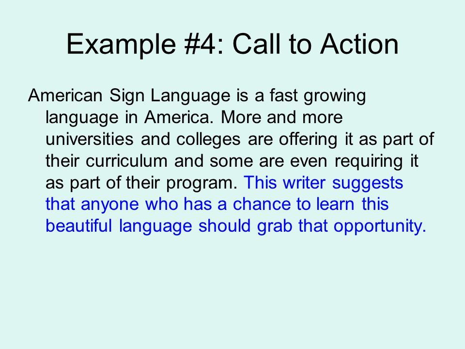 call to action phrases essay A great research by marketing experiments showcasing the landing page optimization suggests placing a call to action along  a persuasive essay on the subject.