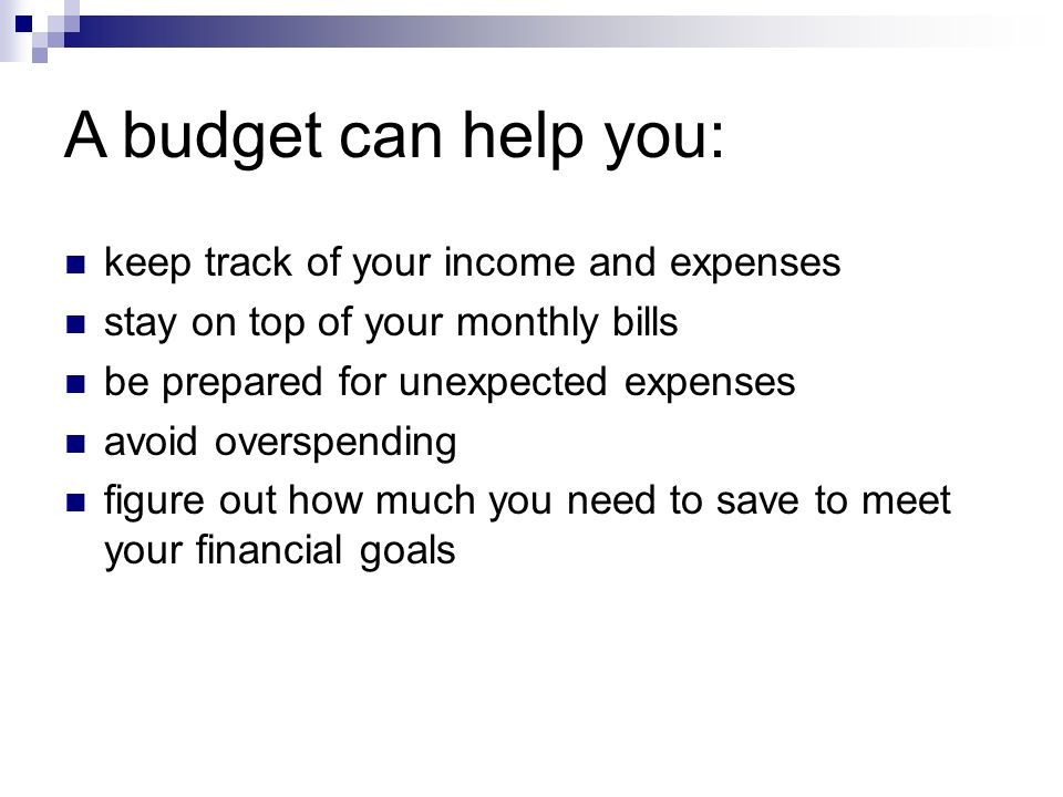 keep track of monthly expenses