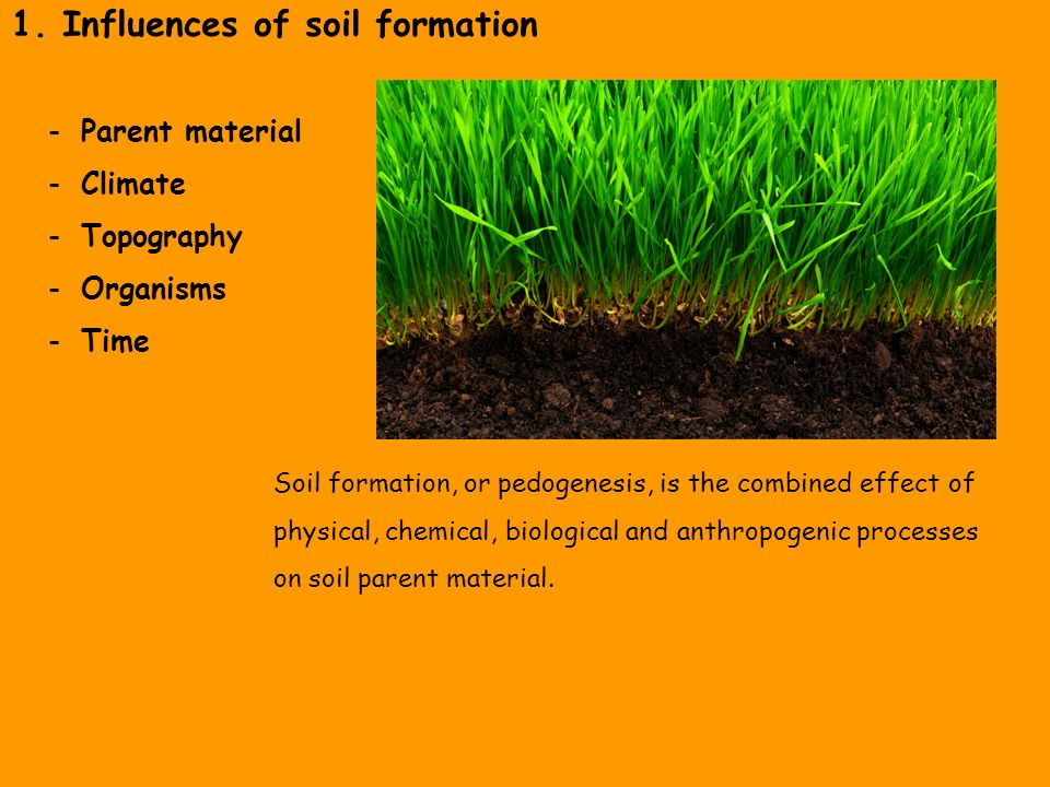 The lithosphere and the soil as power equipment and hazard for Soil formation