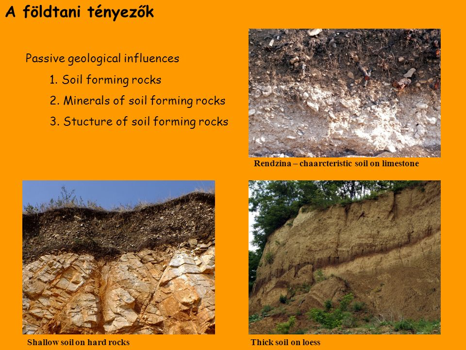 The lithosphere and the soil as power equipment and hazard for Soil forming minerals