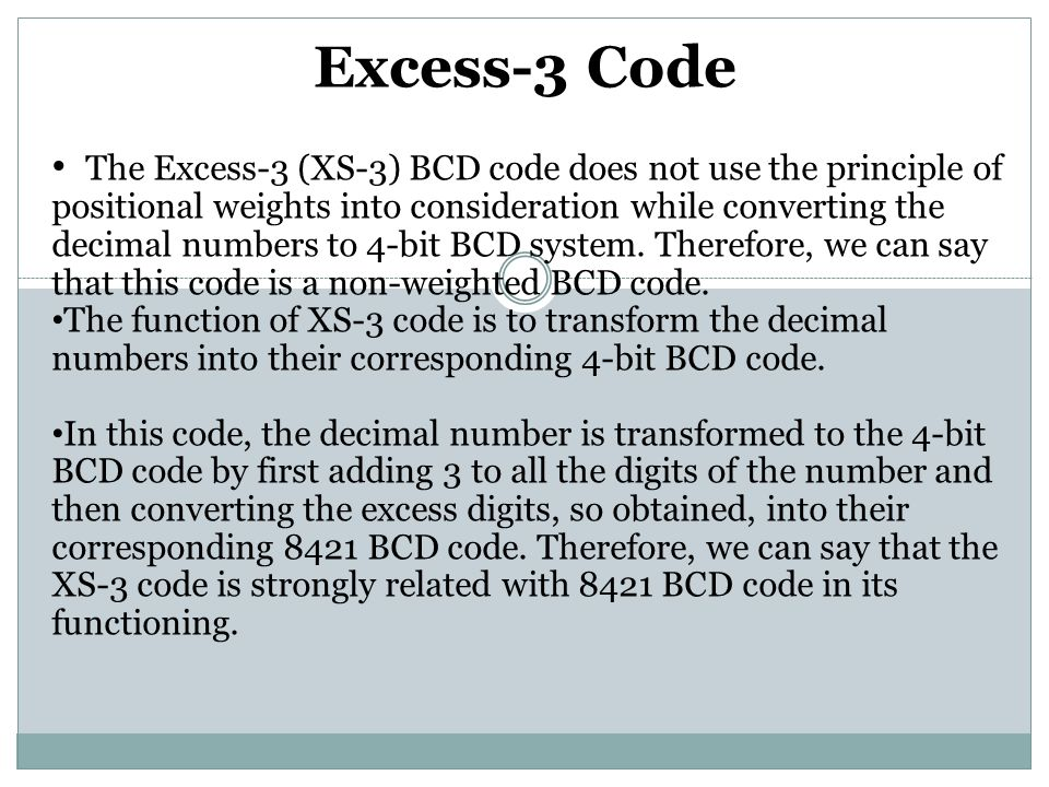 Excess-3 Code