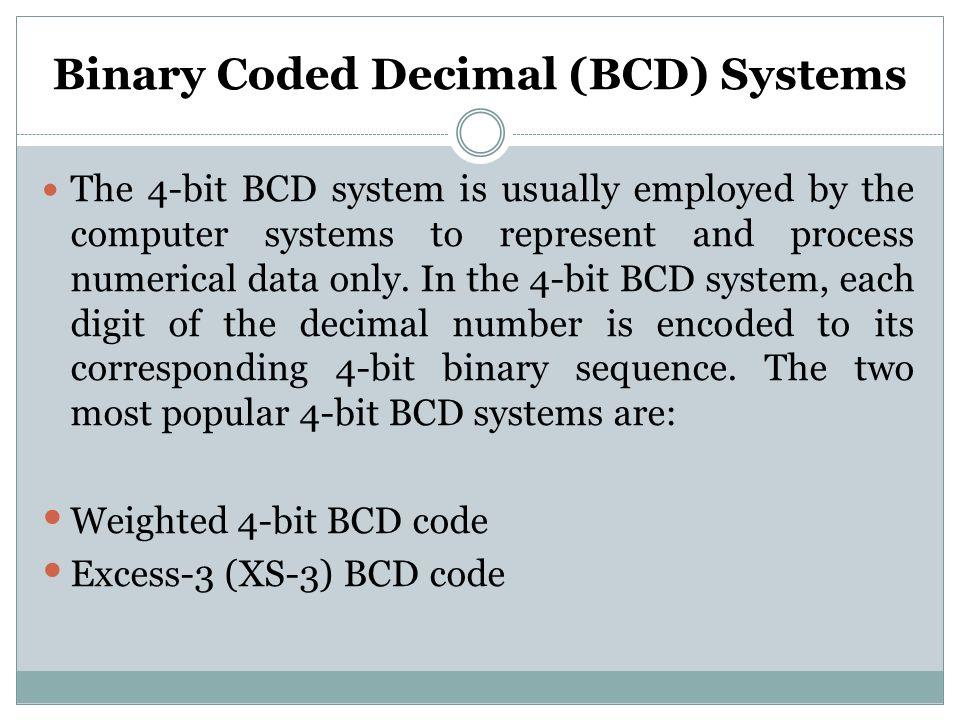 Binary Coded Decimal (BCD) Systems