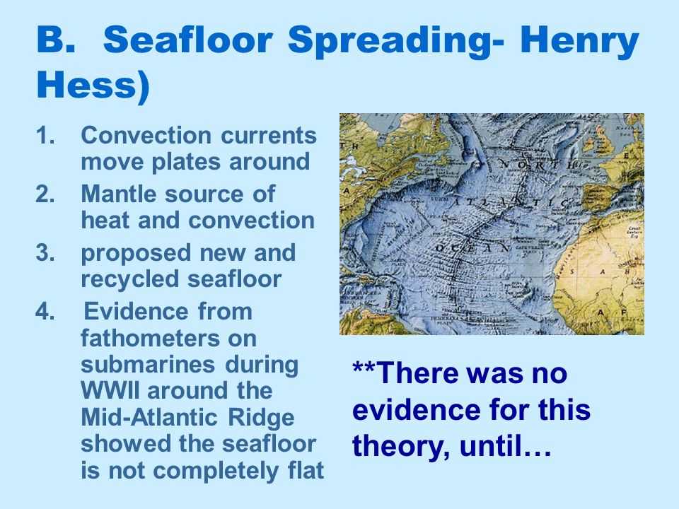 plate tectonics the discovery of plate tectonics a mosaic With henry hess sea floor spreading