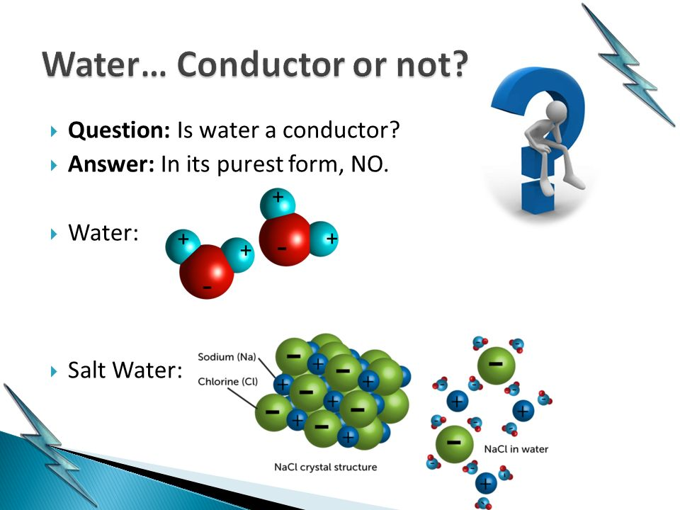 Water As A Conductor : Exploring electricity ppt video online download