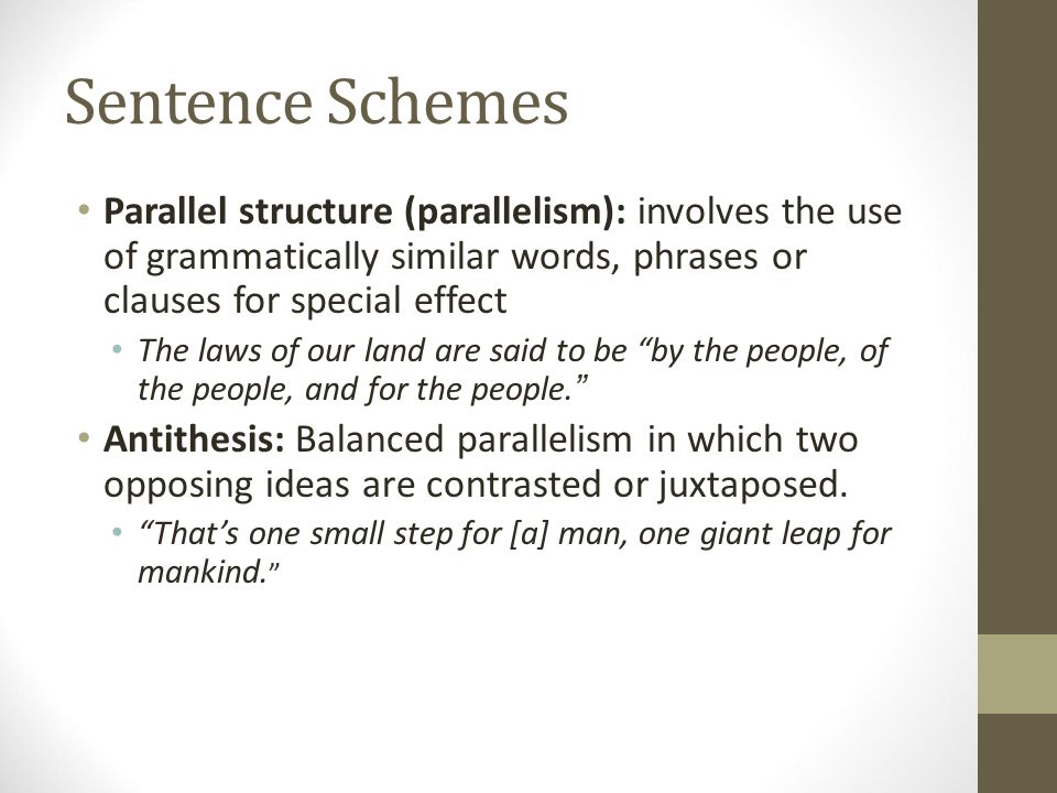 what is a parallel antithesis sentence