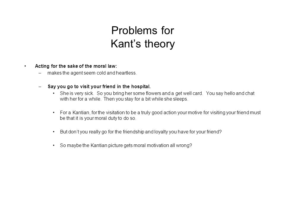 kant's theory and environment issues on Contemporary and moral issues   the principle that defines kant's theory  they reject instrumentalist views in favor of the notion that the environment or .