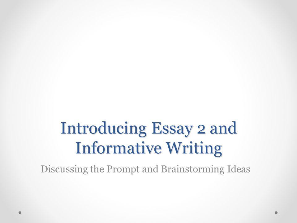 informative writing ideas