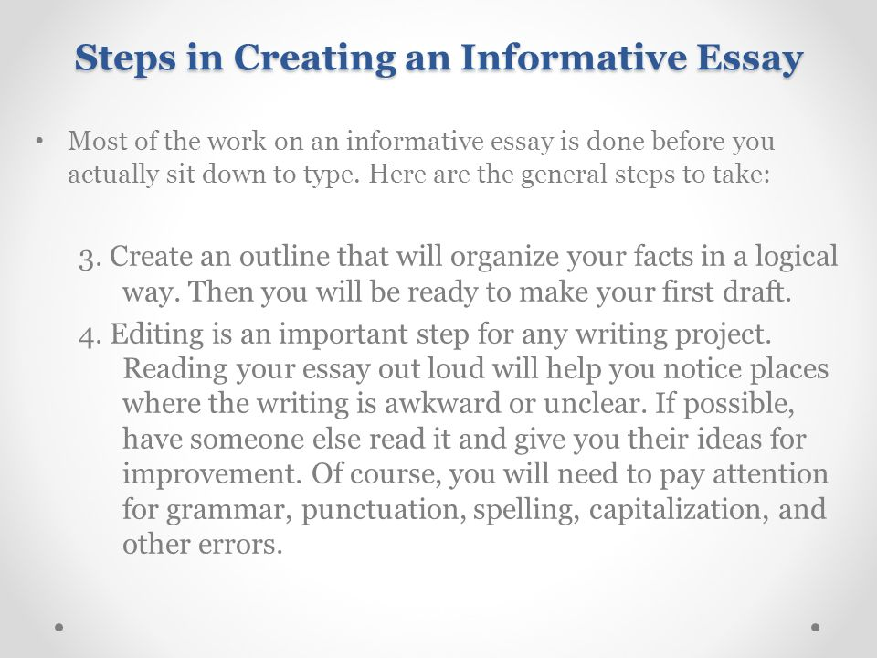 introducing essay and informative writing ppt video online steps in creating an informative essay