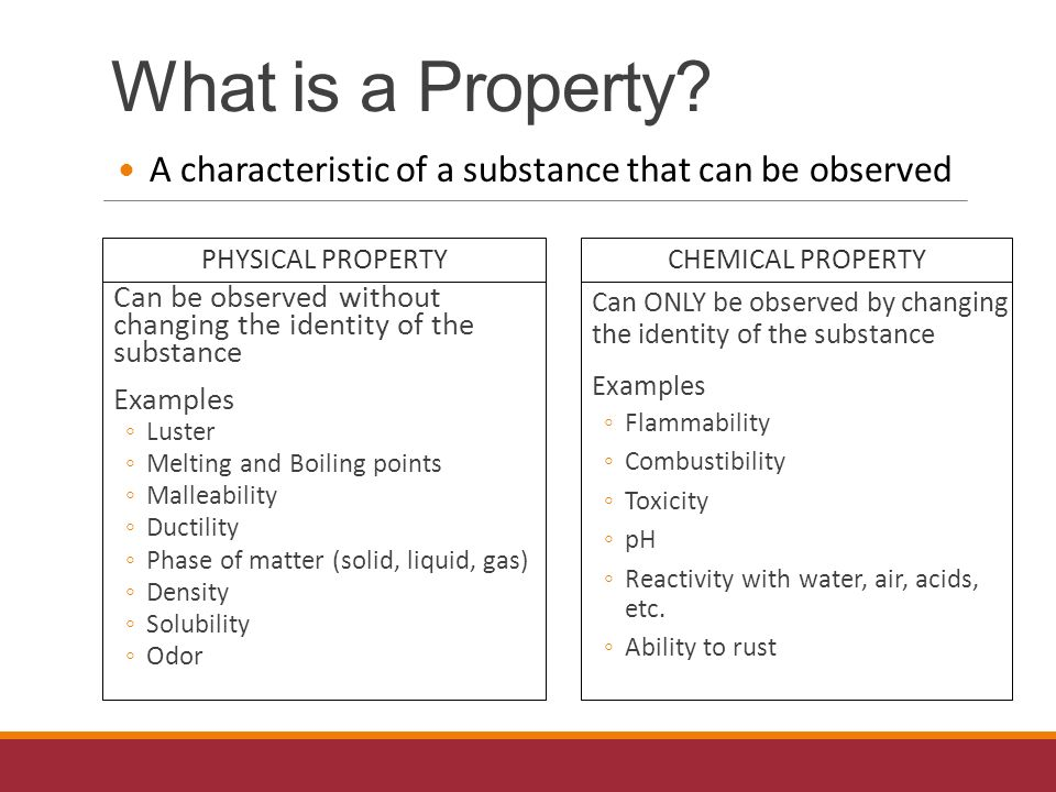 Physical vs. Chemical Properties - ppt video online download What Are Some Examples Of Physical Properties