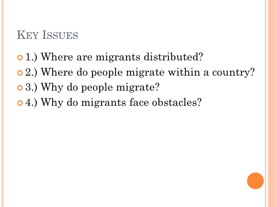 why people migrate from one country