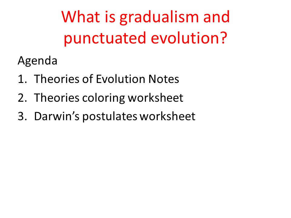 What is gradualism and punctuated evolution ppt video online – Evolution Worksheet