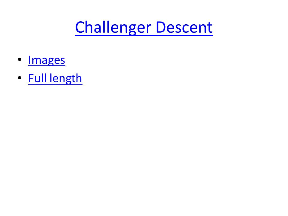 Challenger Descent Images Full length