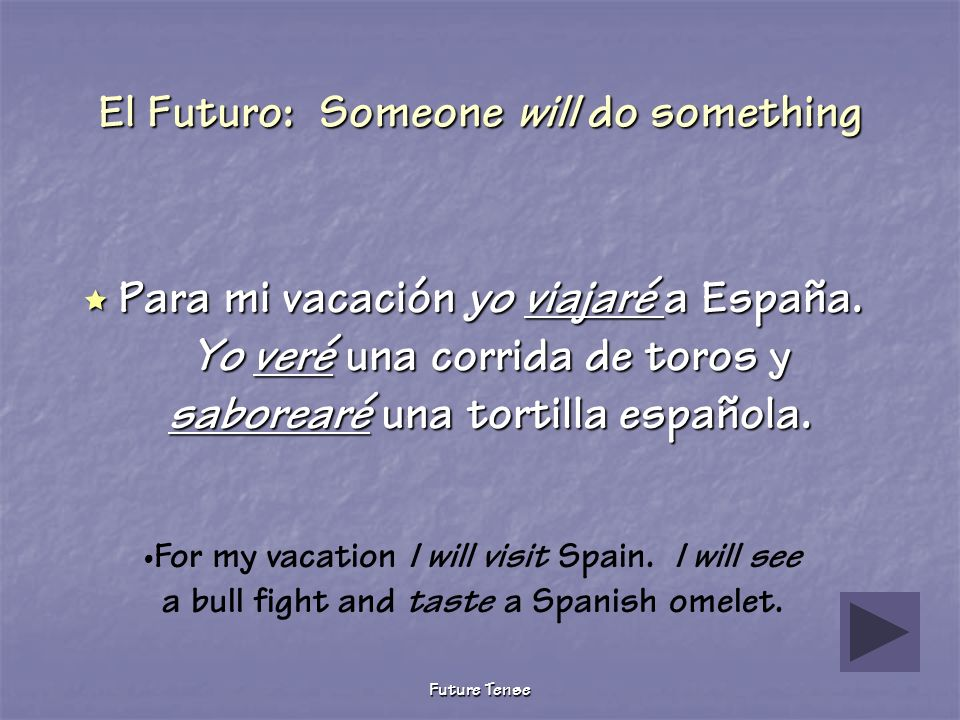 El Futuro: Someone will do something