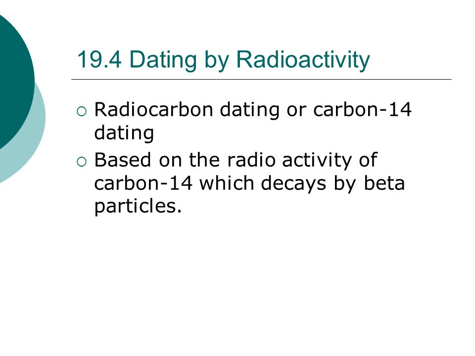 stratigraphy and radio carbon dating activity