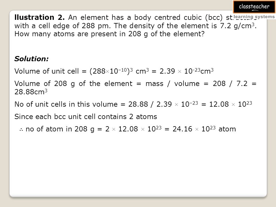 Objectives Packing Fraction In Simple Cubic Unit Cell