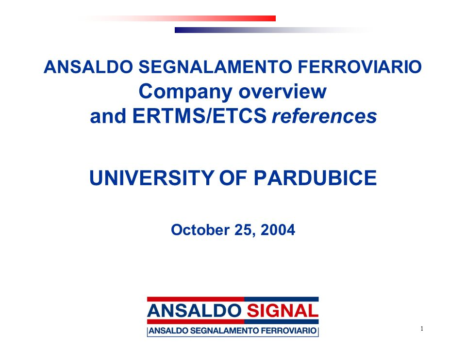 UNIVERSITY OF PARDUBICE October 25, 2004