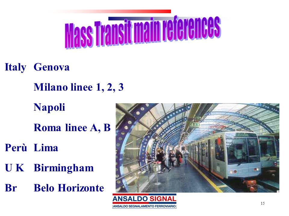 Mass Transit main references