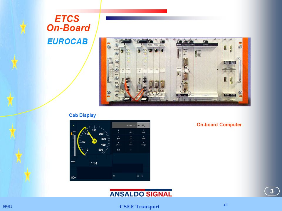 ETCS On-Board EUROCAB 40 3 CSEE Transport Cab Display