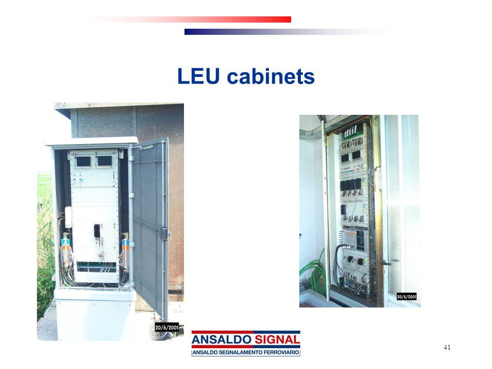 LEU cabinets