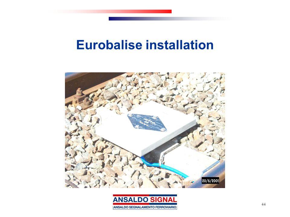 Eurobalise installation