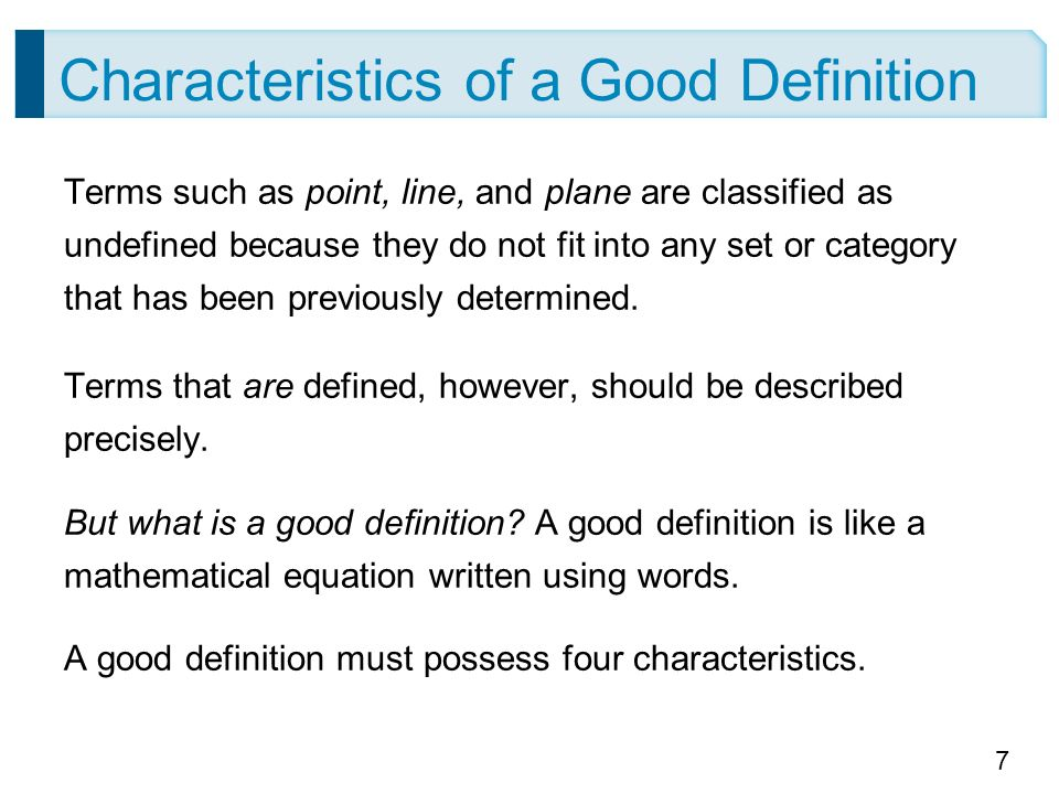 the characteristics of a good definition I've seen lots of lists that identify the characteristics of good teachers  i agree  there should not be a label to define good or bad learners.