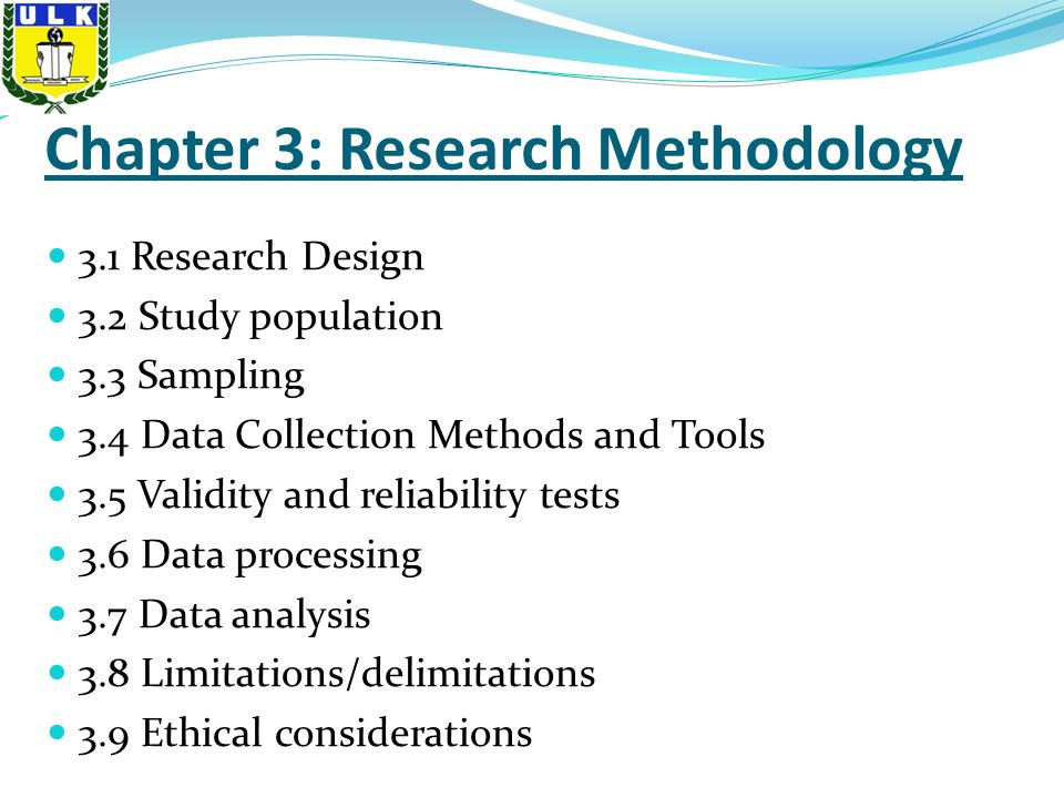 Term paper chapter 3 methodology