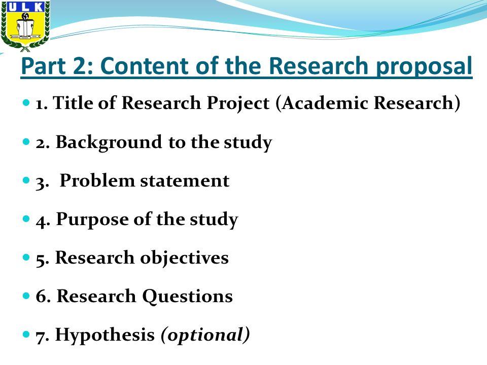 dissertation background problem