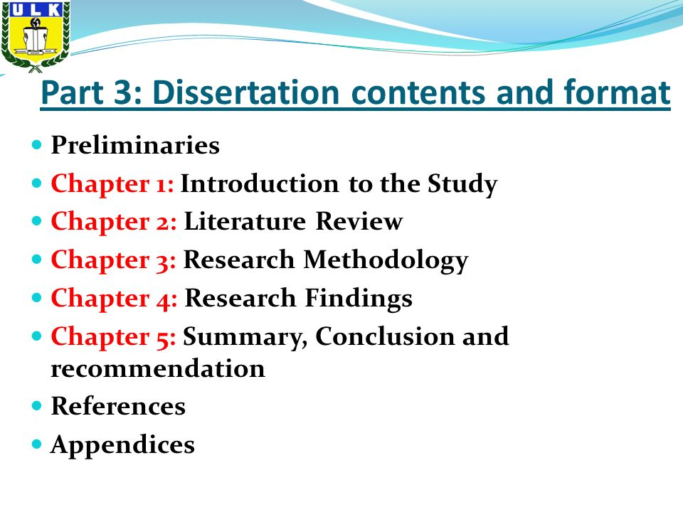 Dissertation Chapter 1, 2, 3, 4, 5… Oh, Give It a Rest!