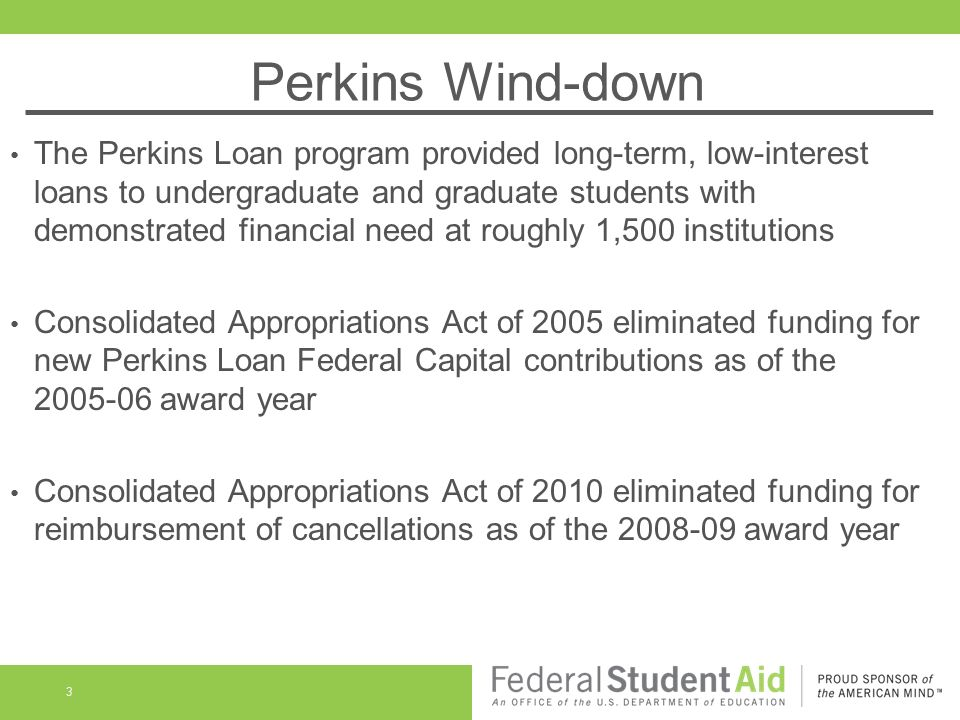 Ending your School's Participation in the Federal Perkins ...