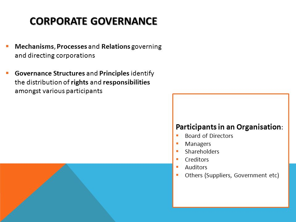 corporate governance in india mechanisms Effective corporate governance is essential if a business wants to set and meet its strategic goals a corporate governance structure combines controls, policies and guidelines that drive.
