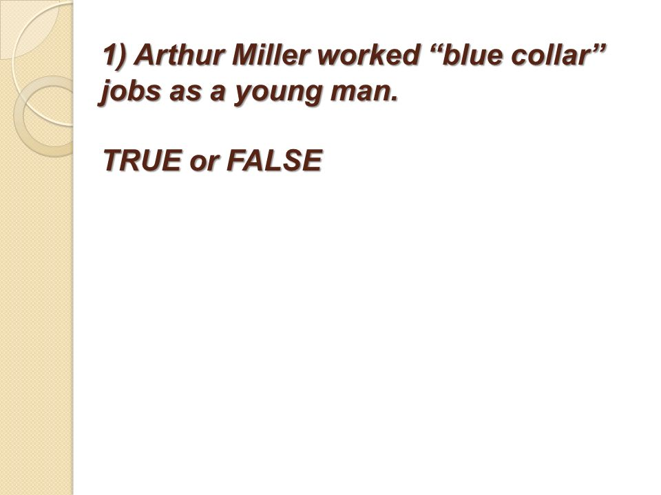 an analysis of arthur millers tragedy A list of all the characters in death of a salesman death of a salesman arthur miller contents read an in-depth analysis of linda loman happy loman.