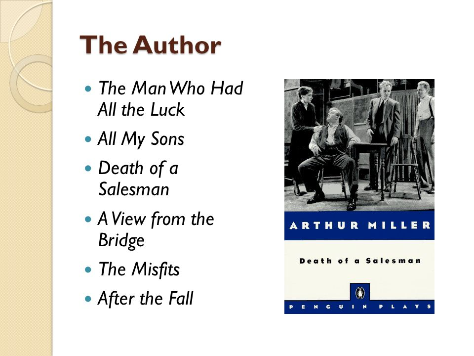 the ordinary men of all my sons by arthur miller All my sons by: arthur miller chris chris keller is a good son and has never revolted against his father until now he went to war with his brother, larry, but only.