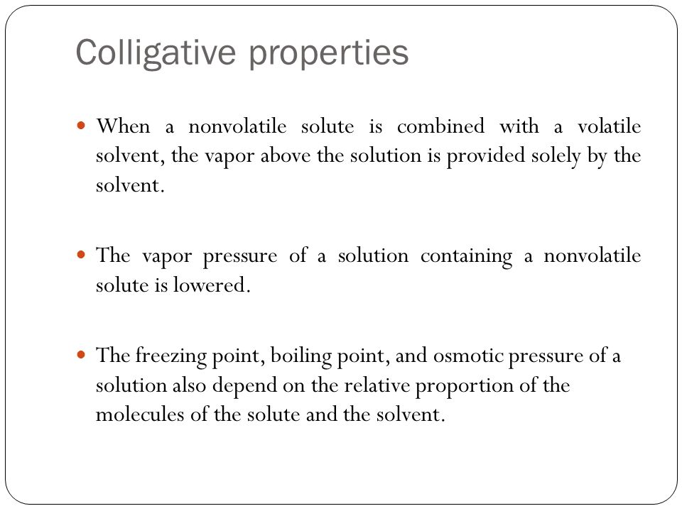 collegative properties 12 experiment 1: colligative properties determination of the molar mass of a compound by freezing point depression objective: the objective of this experiment is to determine the molar mass of an unknown solute by.