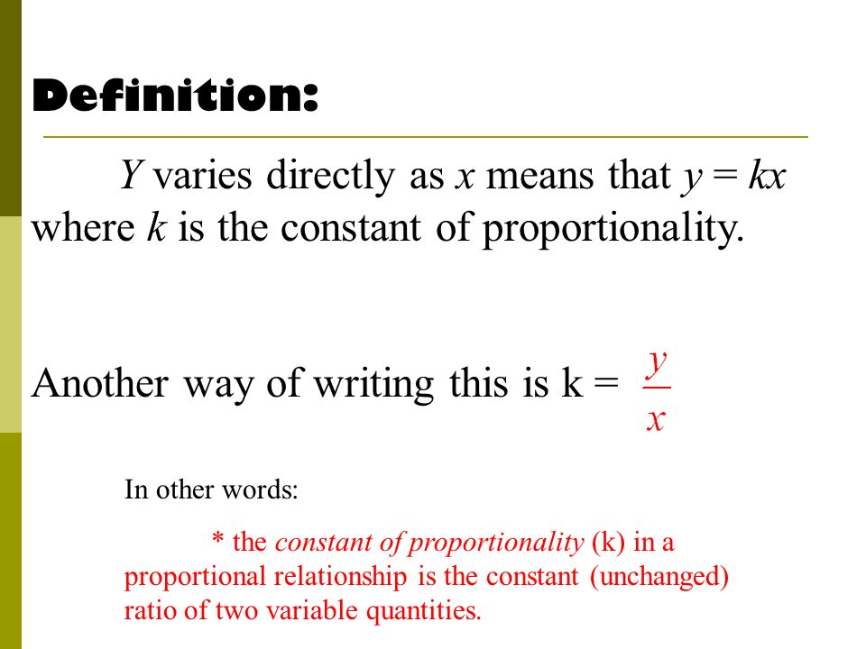 direct proportional relationship definition easy