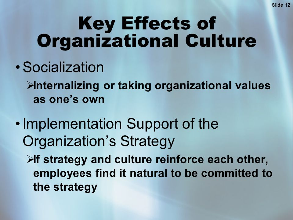 impact of organizational culture on strategic advantage Gain only strategic advantage and derive value from it  publications that study  the benefits of it  strategies, the impact of organizational culture on bita is.