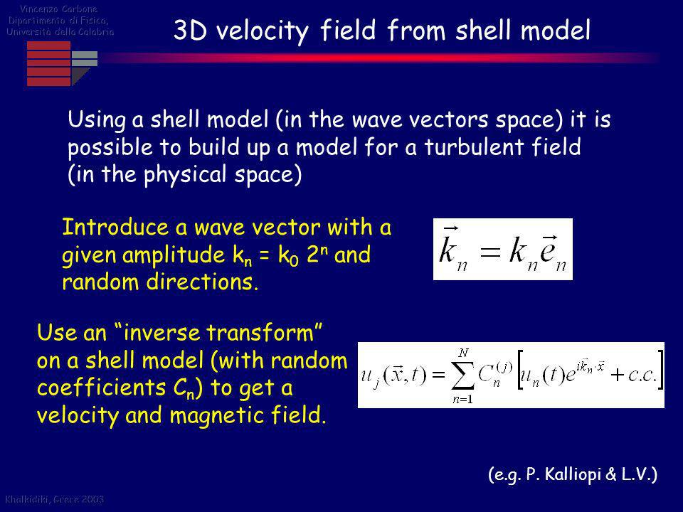 3D velocity field from shell model