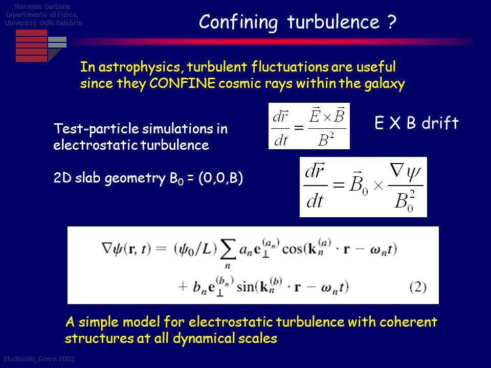 Confining turbulence E X B drift