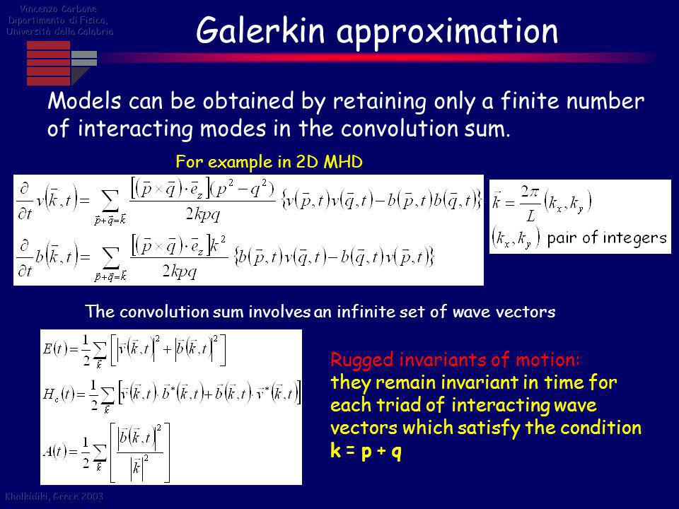 Galerkin approximation