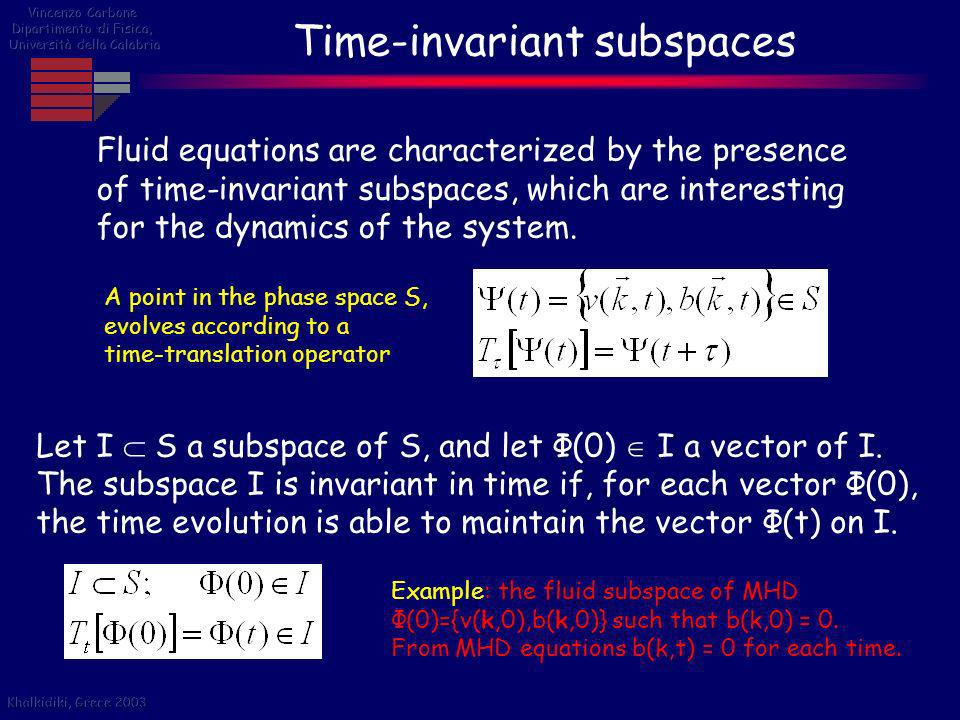 Time-invariant subspaces