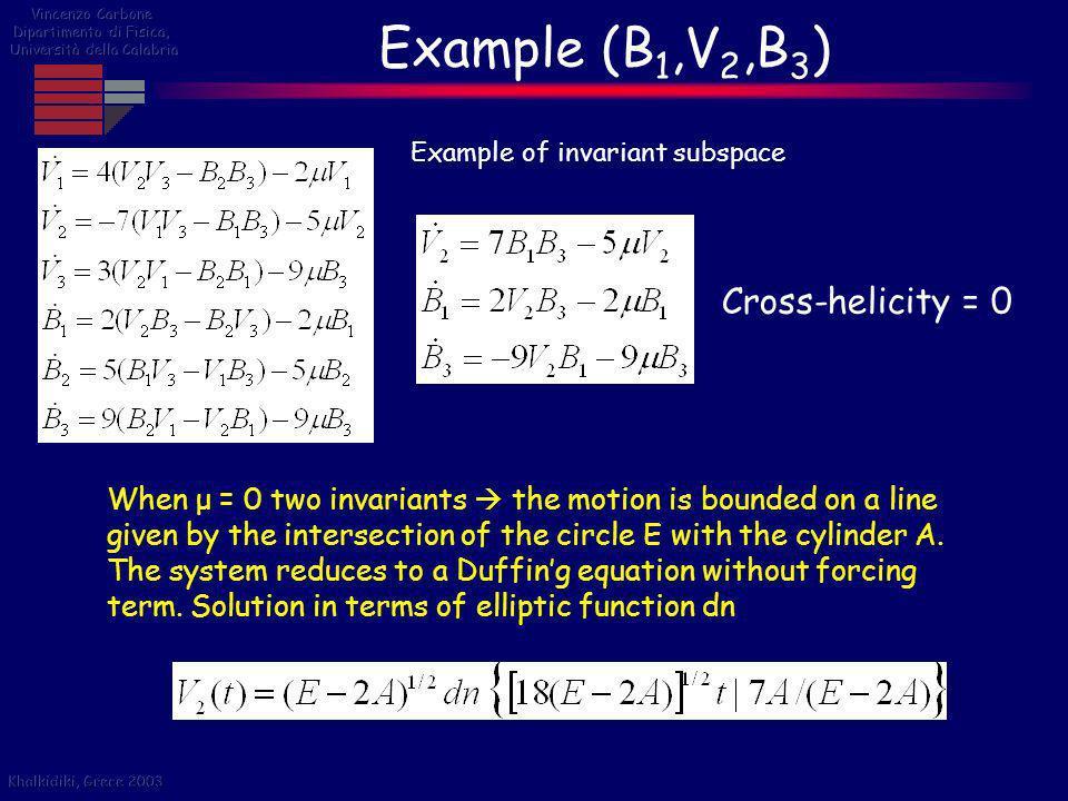 Example (B1,V2,B3) Cross-helicity = 0