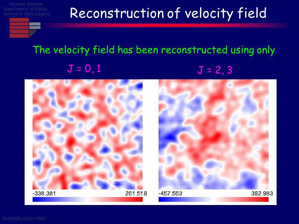 Reconstruction of velocity field