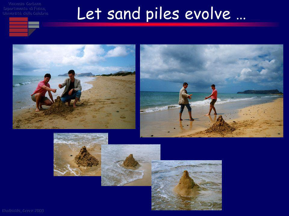 Let sand piles evolve … Vincenzo Carbone Dipartimento di Fisica,