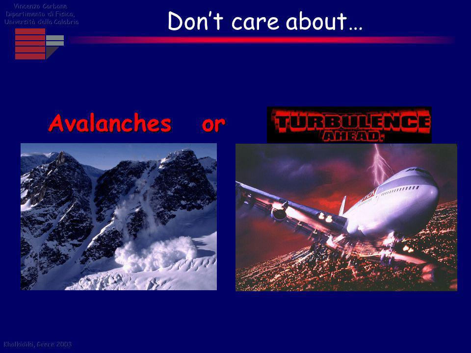 Don't care about… Avalanches or Vincenzo Carbone