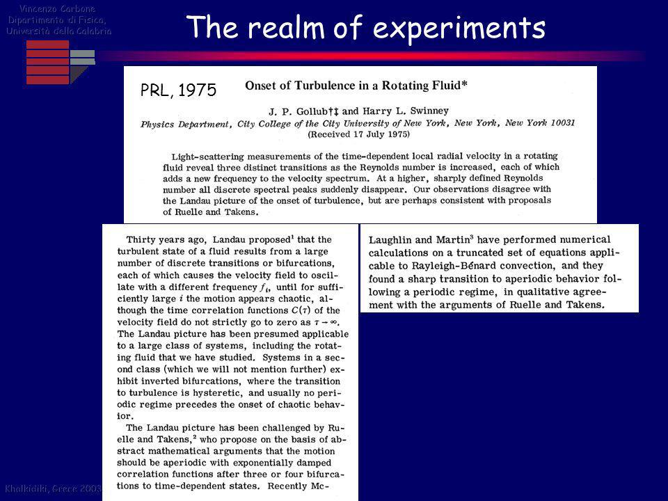 The realm of experiments