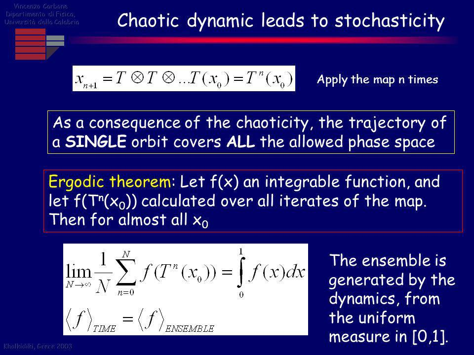Chaotic dynamic leads to stochasticity