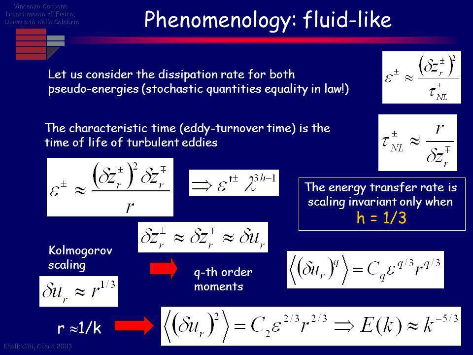 Phenomenology: fluid-like