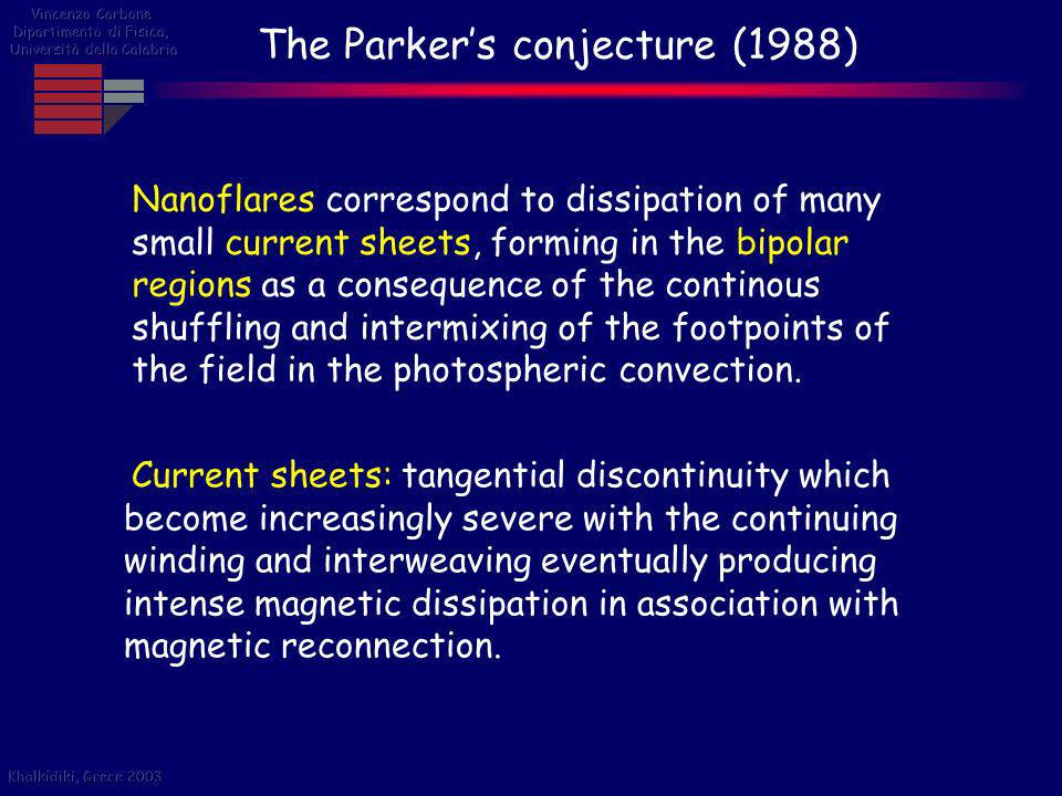 The Parker's conjecture (1988)